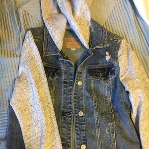 Hollister Sweater Jean Jacket